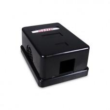 Розетка Настенная телекоммуникационная Под 1 Модуль SHIP A166-1B Чёрная