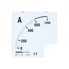 Шкала для амперметра ANDELI 1500/5 (new)