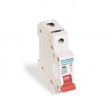 Автоматический выключатель реечный HYUNDAI HIBD63-N 1PMCS0000C 1Р 6А