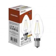 Филаментная лампа Toshiba C35 2,9W (25W) 2700K 250lm E14 ND Тёплый