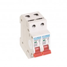 Автоматический выключатель реечный HYUNDAI HIBD63-N 2PMCS0000C 2Р 32А