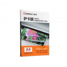 Плёнка для ламинирования COMIX M4070 А4, 70мкм, 100шт.