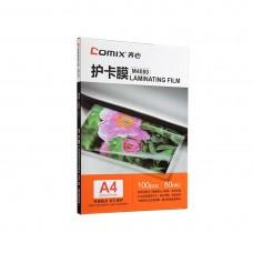Плёнка для ламинирования COMIX M4080 А4, 80мкм, 100шт.