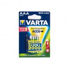 Аккумулятор VARTA R2U Micro 1.2V - HR03/ AAA (2 шт) (56703) <56703-2>.