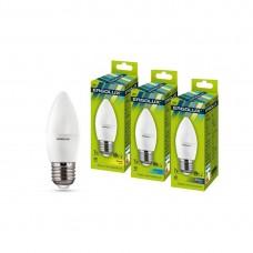 Эл. лампа светодиодная Ergolux C35/6500K/E27/7Вт, Дневной