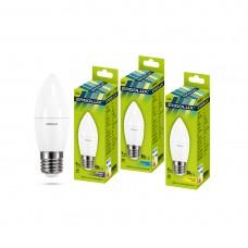 Эл. лампа светодиодная Ergolux C35/6500K/E27/9Вт, Дневной