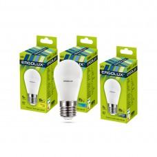 Эл. лампа светодиодная Ergolux G45/4500K/E27/9Вт, Холодный