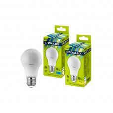 Эл. лампа светодиодная Ergolux A60/4500K/E27/10Вт, Холодный