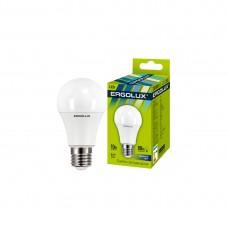 Эл. лампа светодиодная Ergolux A60/6500K/E27/10Вт, Дневной