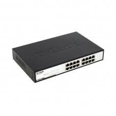 Коммутатор D-link DGS-1016C/B1A (1000 Base-TX (1000 мбит/с), Без SFP портов)