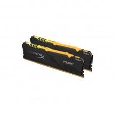 Оперативная память Kingston HyperX Fury RGB HX432C16FB3AK2/16 DDR4 16G (2x8G) 3200MHz