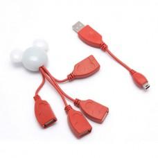 Расширитель USB Deluxe на 4 Порта DUH4003RD
