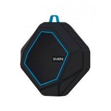 SVEN PS-77, black-blue (5W, Waterproof (IPx5), Bluetooth, microSD, FM, 600mA*h)