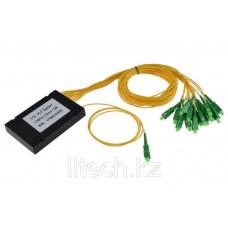 Оптический сплиттер PLC 1*16 SC/APC 2.0mm пластиковый модуль -1m