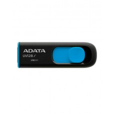 USB-накопитель ADATA UV128,16GB,UFD 3.1,Black/Blue (AUV128-16G-RBE)