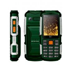 Мобильный телефон BQ-2430 Tank Power Зелёный+Серебро