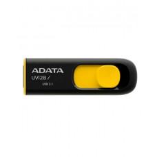 USB-накопитель ADATA UV128, 16GB, UFD 3.1, Black/yellow (AUV128-16G-RBY)