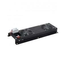 ITK FM05-22M ITK Вентиляторная панель с выключателем и термостатом 2 модуля черная
