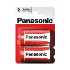 Батарейка солевая PANASONIC Red Zinc D/2B