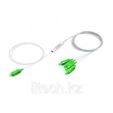 Оптический сплиттер PLC 1*4 SC/APC 0,9mm мини модуль -1m