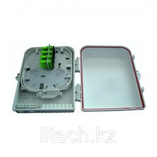 Оптический пластиковый кросс FTTH укомплектован 24 адаптерами и пигтейлами