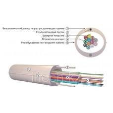 Кабель волоконно-оптический ОКНГ-Т6-С24-1.0 (ВП)с двумя прутками в оболочке