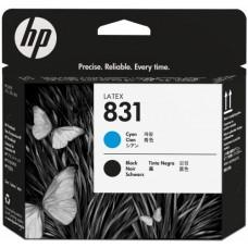 Картридж HP 831 печатающая головка для латексных чернил, голубая/черная CZ677A