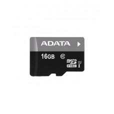 Карта памяти ADATA microSDHC,16 Gb,UHS-I Class 10 + SD adapter