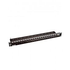 3М VOL-PPCB-F24K Коммутационная панель (CLASSIC), 24 порта, 1U, черная, укомплектованная, 6 кат.