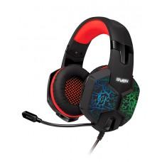 SVEN AP-U988MV Игровые стереонаушники с микрофоном черный-красный
