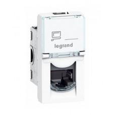 Legrand 076561 MOSAIC RJ45 UTP кат6 1мод бел