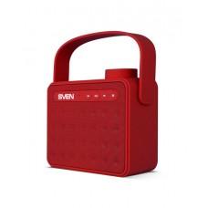 SVEN PS-72, красный, акустическая система 2.0, Bluetooth, FM, USB, microSD, встроенный аккумулятор