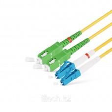 Патчкорд SC/APC-LC/UPC SM 9/125 Duplex 2,0mm - 1М