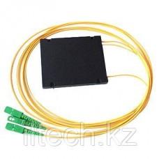 Оптический сплиттер PLC 1*2 SC/APC 2.0mm пластиковый модуль -1m