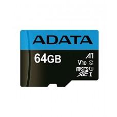 Карта памяти ADATA Premier microSDXC, 64Gb, UHS-I Class 10 A1 + SD adapter